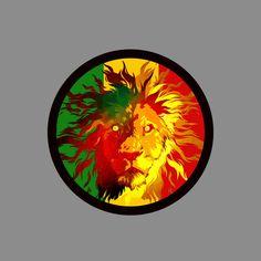 Rasta Vinyl Sticker high resolution print on vinyl and precision cut rastafari lion of judah jamaica reggae music ethiopia africa. via Etsy.