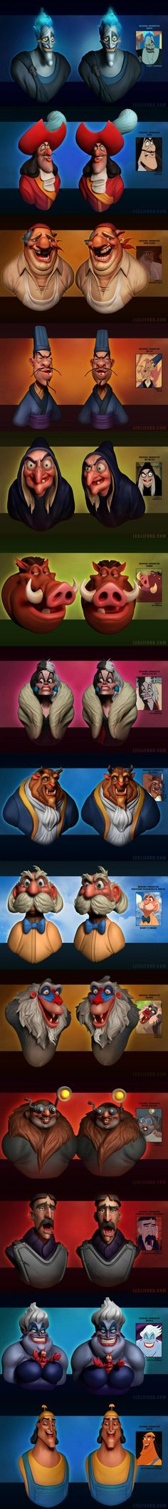3D Renderings of Disney Characters