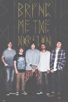 Bring Me the Horizon Group Black - Official Poster