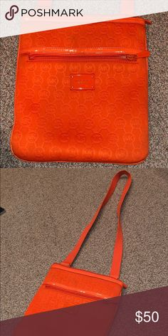 be976746485a Orange Soft Michael Kors Purse 👜 Orange Crossbody Purse that is super  stylish and perfect for