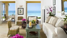 Tortuga Bay: Ocean Front Two Bedroom Suites have separate living rooms and private dining areas.