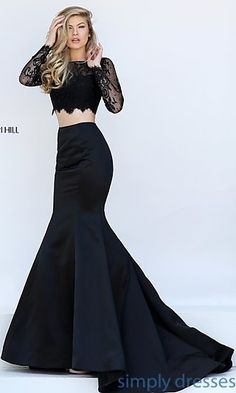 Two Piece Dress with Mermaid Skirt by Sherri Hill