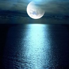 Moon over ocean...............