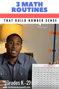 Want to learn new math games and routines that will build number sense in your kindergarten, 1st grade and 2nd grade students?  Check out this video with 3 FUN math activities that build number sense with your primary students.