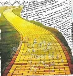 Goodbye yellow brick road:  this combines three of my favorite things;  the Beatles, Elton John, and The Wizard of Oz.