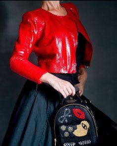 Курточка и мини рюкзак из натурального питона.  Natural Python jacket n…
