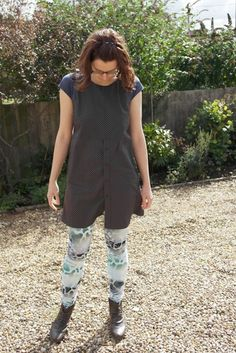 Japanese Style Dress Refashion And Leggings - Jezek's Handmade Gifts