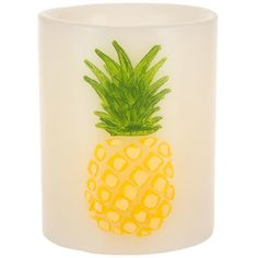Pineapple LED Pillar Candle Pillar Candle Holders, Pillar Candles, Old Bookcase, Candles Online, Pineapple Design, Unique Wallpaper, Yellow Painting, Paint Cans, How To Distress Wood