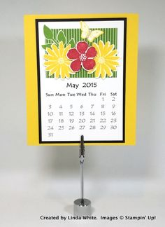 Created by Linda White - 12-month calendar and FREE PDF! (May)