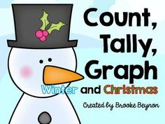 Merry Christmas I hope you enjoy this fun activity for your K-2 kids in the festive season.  Simply print the color picture or project onto SmartBoard and copy the recording sheet. Students count each item, write the number, make a tally to represent that number and graph the number.