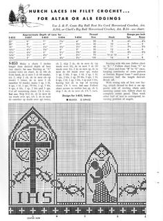 Grandmother's Pattern Book » Christian Symbols in Filet Crochet ...
