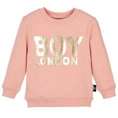 BOY London Pink & Gold Sweatshirt at Childrensalon.com