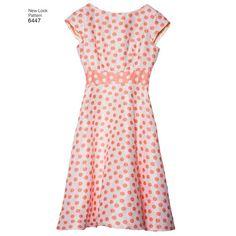 New Look Pattern 6447 Misses' Dresses