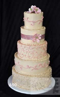 Butter Cream Iced Wedding Cakes, Eggless Wedding Cakes | A Little Cake