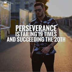 Perseverance is the ability to continue in spite of difficulties or obstacles. It doesn't matter how many times you fail, if you are persistent, success is inevitable!! Tag your friends • Follow @Risebeyond.fam  Follow @Risebeyond.fam  • Like 5 Pictures Turn on post notifications so you don't miss our next post! Share with your friends