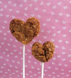 Chewy Oatmeal Cookie Hearts with Cinnamon Chips by SweetOnHearts, $18.00