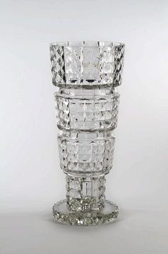 Jean Sala for the Cristallerie of Saint Louis, crystal vase, 1937