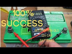 """How To Recondition A Battery How To Recondition A Battery """"Bringing Dead Batteries Back To Li. Cordless Drill Batteries, Ryobi Battery, Power Tool Batteries, Batterie 12 Volts, Battery Hacks, Motorcycle Battery, Battery Recycling, Lead Acid Battery, Youtube"""