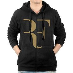 AASD Mens Roger Federer Logo FullZip Fleece Hoodie XXL *** Find out more about the great product at the image link.