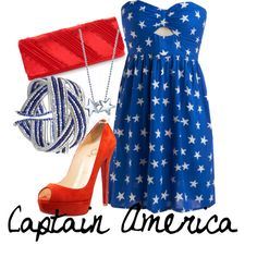 captain america, created by marvel-ous on Polyvore