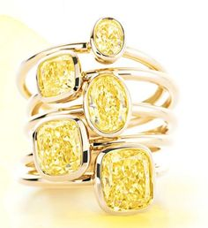 Tiffany Yellow Diamond Rings