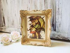 Vintage Art Music Box Ornate Frame Cream by WillowsEndCottage