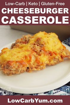 Low Carb Bacon Cheeseburger Casserole A family friendly keto casserole with all the flavor of a bacon burger! It's sure to become a regular low carb comfort food. Diabetic Recipes, Low Carb Recipes, Cooking Recipes, Healthy Recipes, Healthy Snacks, Keto Casserole, Casserole Recipes, Bacon Cheeseburger Casserole, Low Carb