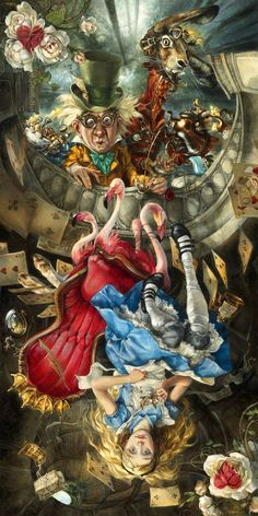 "- Inspired by Lewis Carroll's Alice - Lithograph - Limited Edition of 1000 - Approximately 10"" x 20"" Heather Theurer Artist Bio Looking back over the past twenty years, Heather Theurer has realized th"