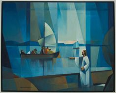 The Call / Jorge Orlando Cocco Santangelo / Oil on canvas - Jesus calling to Peter, Andrew, James, and John to come be fishers of men