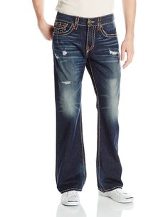 True Religion Mens Jeans Size 42 Billy super T in IND HGHLGHT NWT 369 #TrueReligion #Relaxed