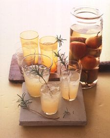 Pear-Rosemary Cocktails; grab some rosemary from our garden in the Walla Walla Valley for this one guys!