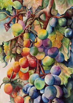 """Fantasy Grapes"" by Diane Fujimoto"