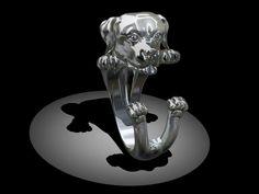 Rottweiler Ring by Marco Giardini Gioielli! Amazing!