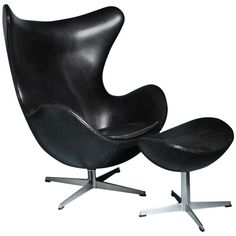 Egg Chair Designed by Arne Jacobsen for Fritz Hansen, Denmark, 1958   From a unique collection of antique and modern armchairs at http://www.1stdibs.com/furniture/seating/armchairs/