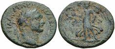 Agrippa II 20 mm 4.42 gm  Caesarea Maritima Struck 83 -96.