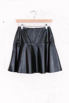 Vegan Leather Skirt - @ Parc Boutique