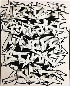 Graffiti Alphabet Fonts, Graffiti Lettering Fonts, Graffiti Writing, Images Graffiti, Art Images, Images Alphabet, Tattoo Lettering Styles, Arte Hip Hop, Wildstyle