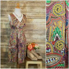 Colorful Paisley Cotton Dress