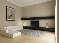 wohnzimmer einrichten ohne wohnwand - Einzelelemente in schwarz