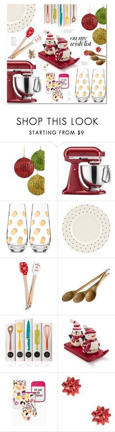 """""""#PolyPresents: Wish List"""" by ames-ym ❤ liked on Polyvore featuring interior, interiors, interior design, home, home decor, interior decorating, KitchenAid, Kate Spade, Martha Stewart and Jamie Oliver"""