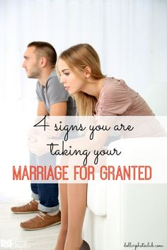 Are you taking your marriage for granted? 4 signs that your marriage might be in trouble. https://twitter.com/NeilVenketramen