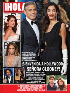 Amal and George Clooney in HOLA! Mexico Magazine – Golden Globes 2015.