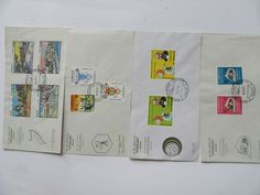 Lot of 4 Day Cover Somalia Stamps 1st Day, Stamps, Cover, Stuff To Buy, Vintage, Stamping, Slipcovers, Blanket, Primitive