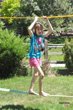slackline for kids -- improves core strength and balance!
