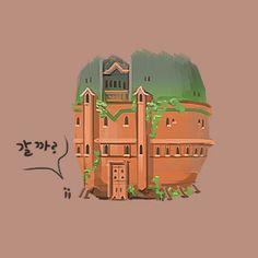 #art #artwork #architecture #design #illustration #photoshop #cs6 #그림 #fantasy #conceptart #landscape #game #gameart #perspective #배경원화 #지제이#painting #color #minimal