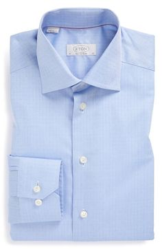 Men's Eton Contemporary Fit Herringbone Dress Shirt