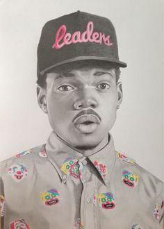 "Saatchi Art Artist Nick Wainman; Drawing, ""Chance the rapper"" #art"