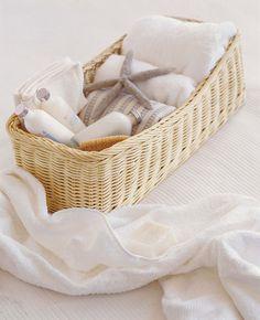 Rectangular Blond Shelf Basket