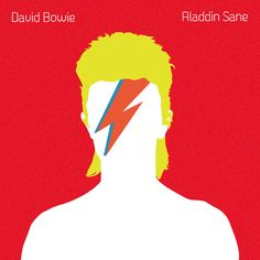 David Bowie - Aladdin Sane This cover is so well known and so iconic that it would be a sin propose a new design for it. So I decided to do an minimalistic illustration of Aladdin Sane inspired by the original cover.