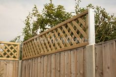 extend height of a fence | Increase the height of your fence with trellis fence extension ...